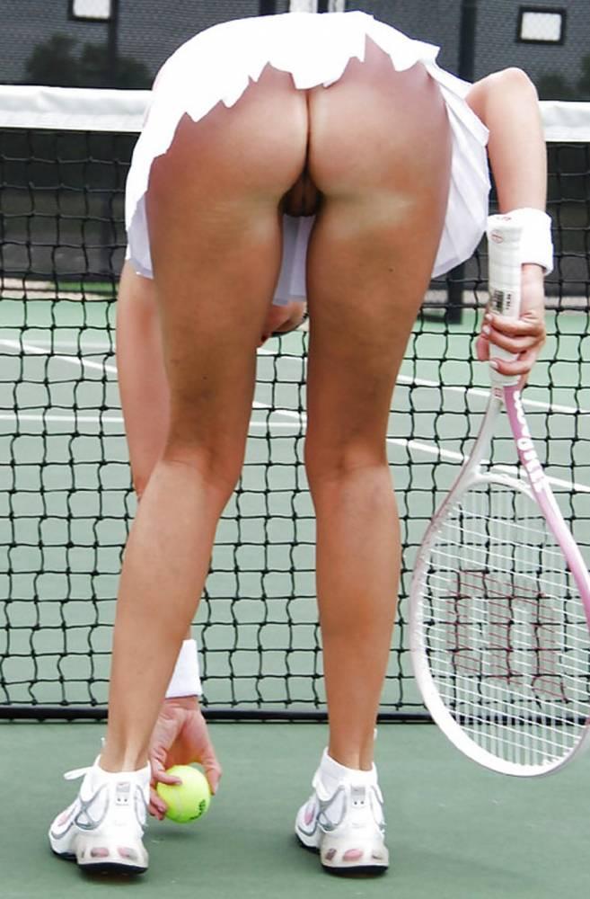Теннисистка Дает В Попу