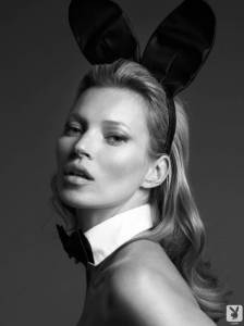 Обнаженная Кейт Мосс (Kate Moss) позирует для журнала Playboy